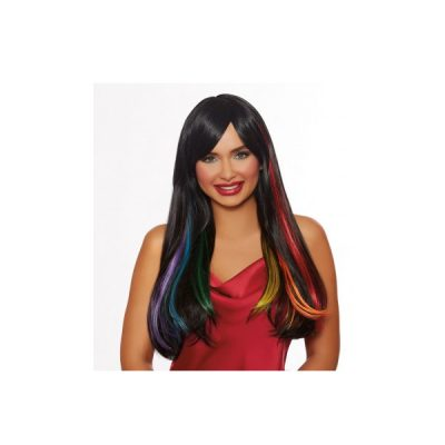 Hidden Rainbow Long Straight Wig Black Primary