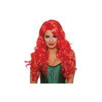 Wavy Layered Flame Red Long Wig No Bangs