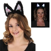 Costume Light Up Plush Cat Ears Headband