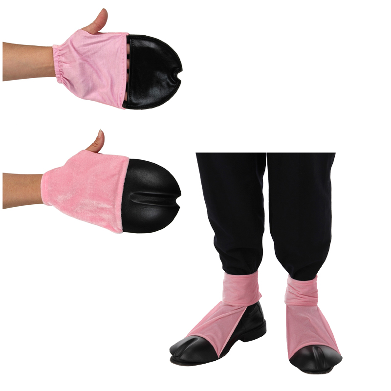 Costume Plush Pig Feet Front Back