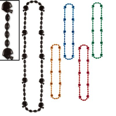 Football Helmet Bead Necklaces