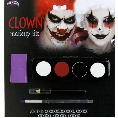 Clown Makeup Kit Red Black White