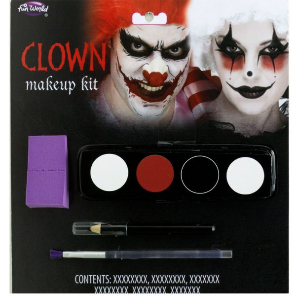 Clown Makeup Kit Red Black White