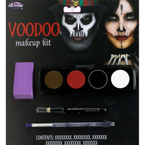 Voodoo Makeup Kit Brown Red Black White