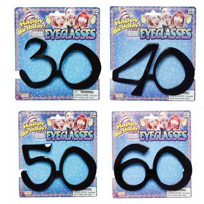 Black Plastic Age-Related Eyeglasses 30 40 50 60