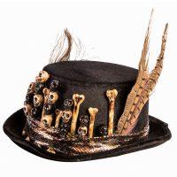 Voodoo Skulls n Bones Top Hat