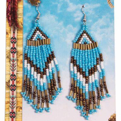 Costume Mini Beadwork Earrings