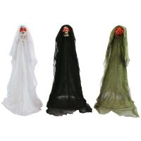 3 Foot Light-Up Ghostly Lawn Walker - White Green Black