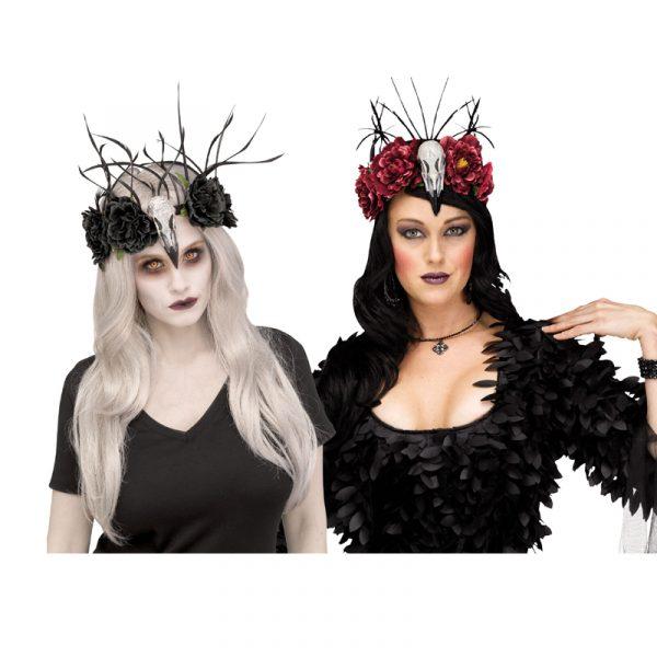 Costume Raven Skull Headpiece