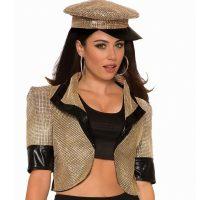 Gold Imitation Rhinestone Disco Jacket
