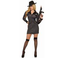 Gangster Dress - Sexy 1920s Pin Stripe Dress