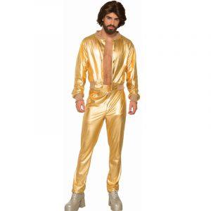 Disco Singer Men's Gold Lamee Pants & Jacket