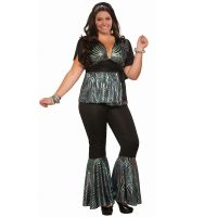 Disco Dancer Plus Size Full Figure Costume