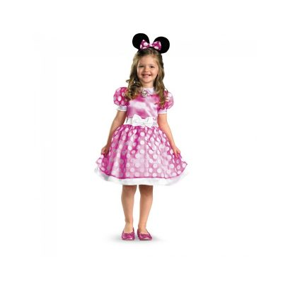 Pink Minnie Mouse White Polka Dots Toddler Costume