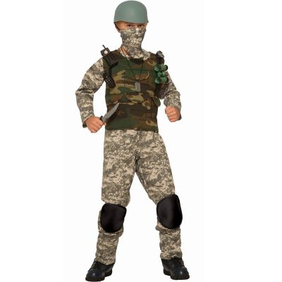 Combat Trooper Kids Camouflage Costume