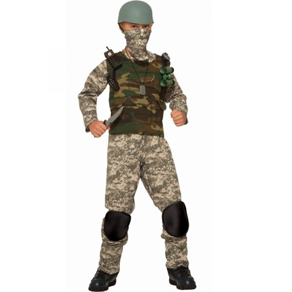Combat Trooper Kids Camouflage Costume