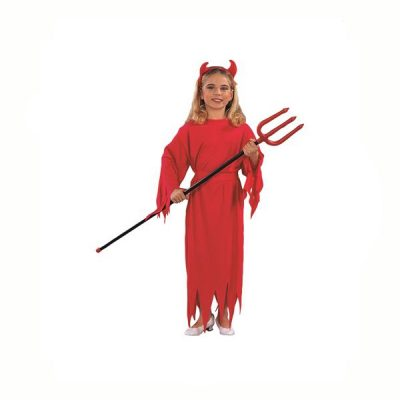 Devil Girl Costume Red Gown and Sash