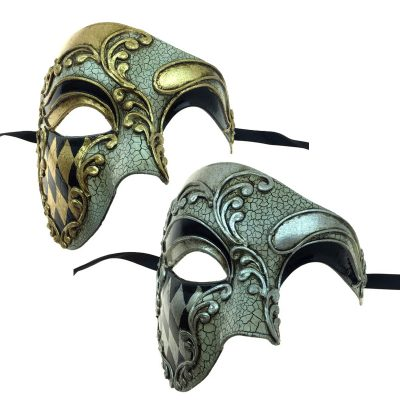Costume Venetian Man Phantom Face Mask