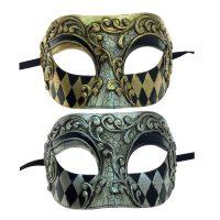 Costume Venetian Man Half Mask