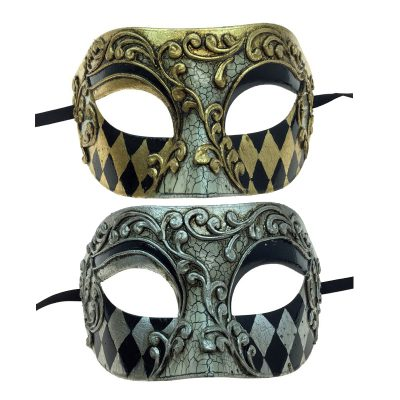 Costume Venetian Man Half Mask
