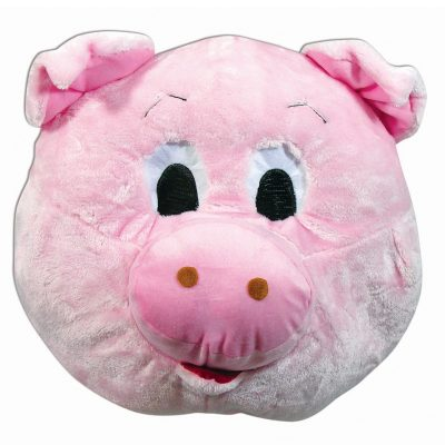 Plush Pink Giant Pig Mascot Mask