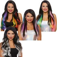 Long Hair Extensions - Straight Wavy Layered 4 Styles