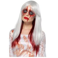 Ombre Wig White Red - Blood Drip Deluxe Styleable