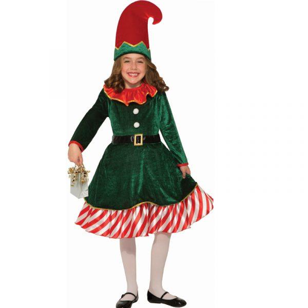 Santas Little Elf Child Christmas Costume