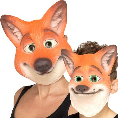 Foam Fox Face Mask Adult or Child Size