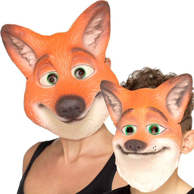 Costume Foam Fox Face Mask Adult or Child Size