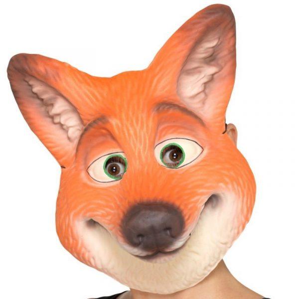 Foam Fox Face Mask Adult Size