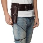 Costume-Quality Western Belt & Holster - Brown