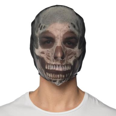 Costume Nylon Skull Hoodie Mask