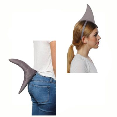 Costume Soft Stuffed Shark Fin Headband n Tail
