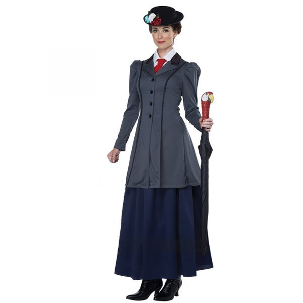 English Nanny Adult Costume for Mary Poppins