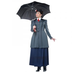Plus Size English Nanny Adult Costume for Mary Poppins