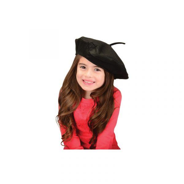 Promo Inexpensive Felt French Beret Hat Black