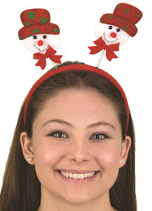 Fabric Snowman w Hat Headband