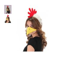 Costume Plush Chicken Headband n Beak Kit