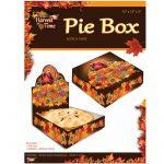 Pie Box - Harvest Time Printed Pop-up Cardboard