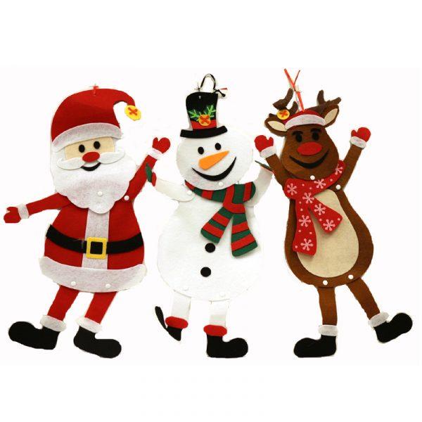 21 Inch Felt Christmas Figures Santa, Snowman, or Reindeer