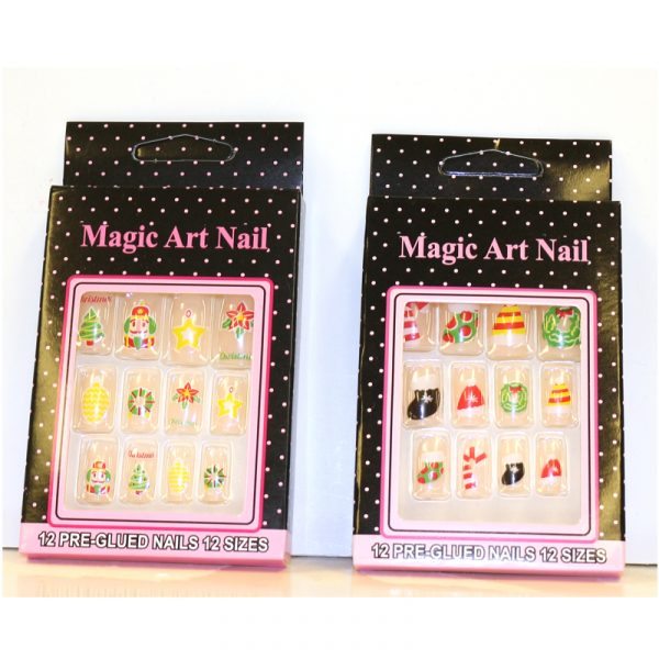 Christmas Print Fingernail Set