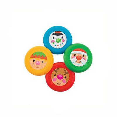 Round Plastic Christmas Flying Discs