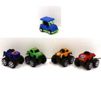 2 Inch Plastic Pull-Back Truck Racers Golf-Cart Racers