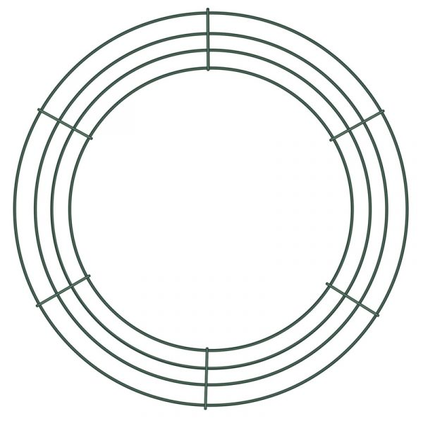 "14"" Wire Wreath Making Frame Form"