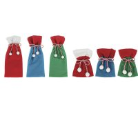 Felt Santa Sack Gift Bag Two Sizes Three Colors