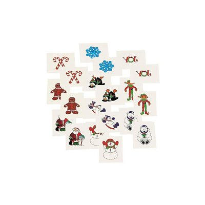 Christmas Glittered Small Temporary Tattoos