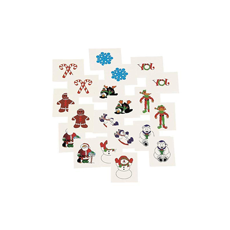 Christmas Glittered Small Temporary Tattoos - Cappel\'s