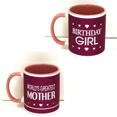 Sparkle Ceramic Mugs Birthday Girl Worlds Greatest Mother