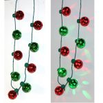 Light-up Christmas Round Bulb Necklace